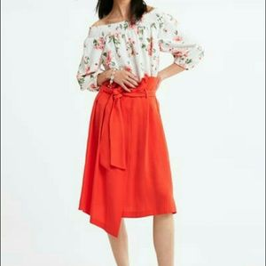 NWT Zara paperbag midi skirt